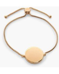 Boohoo Sliding Clasp Coin Bracelet - Metallic