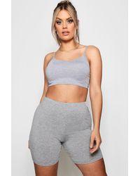 Boohoo Womens Plus Jersey Cycle Short - Grey