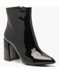 Boohoo Block Heel Sock Boots - Black