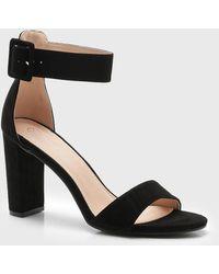 Boohoo - Buckle Detail Block Heels - Lyst