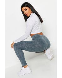 Boohoo Acid Wash Leggings - Gray