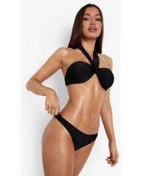 Boohoo Recycled Hipster Bikini Briefs - Black