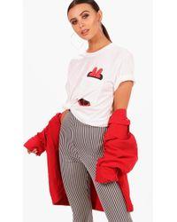 Boohoo - Petite Pocket T-shirt - Lyst