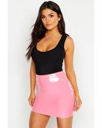 Boohoo Vinyl Mini Skirt - Black