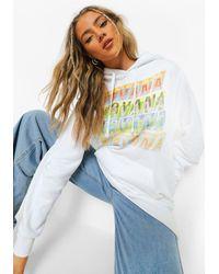 Boohoo - Felpa con cappuccio ufficiale Nirvana - Lyst