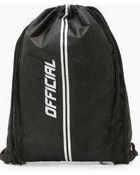 Boohoo Official Drawstring Sports Bag - Black