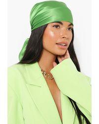 Boohoo Lime And White 2 Pack Headscarf - Green