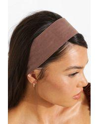 Boohoo Womens Breites, Elastisches Haarband Aus Nylon - Braun