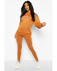 Boohoo Chándal Con Leggings Y Sudadera Woman - Naranja