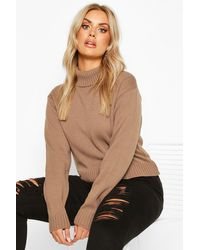 Boohoo - Pull Court Col Roulé Plus - Lyst
