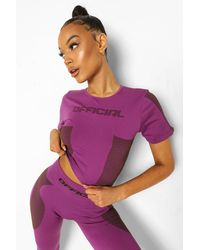Boohoo - Womens Ofcl Seamfree Contour Active Tee - Lyst