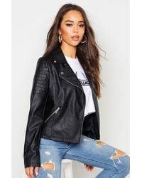 Boohoo Faux Leather Moto Jacket - Black