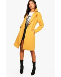 Boohoo - Ava Belted Wool Look Coat - Lyst