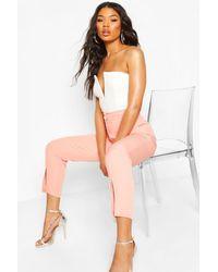 Boohoo Split Hem Tailored Woven Trousers - Multicolour