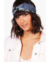 Boohoo - Ava Floral Paisley Print Turban Headband - Lyst