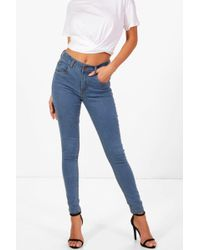 Boohoo - 5 Pocket Stretch Skinny Jeans - Lyst