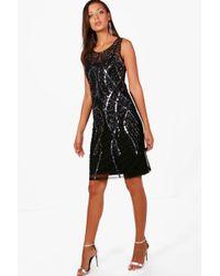Boohoo - Tall Hand Sequin And Beaded Midi - Lyst