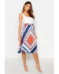 0b4125a0c4 ASOS Pencil Skirt in Chain Print in Blue - Lyst