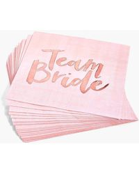 Boohoo Womens Ginger Ray Team Bride Hen Napkins 16pck - Metallics - One Size - Pink