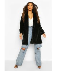 Boohoo Luxe Faux Fur Coat - Multicolour