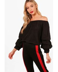 Boohoo - Off The Shoulder Ruffle Blouse - Lyst