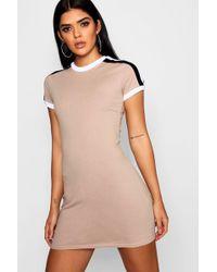 Boohoo - Sports Trim Mini Dress - Lyst