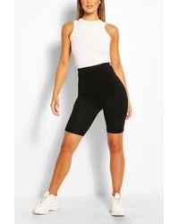 Boohoo Basic Solid Biker Shorts - Black