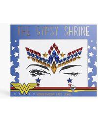 Boohoo Shrine Halloween Wonder Woman Face Jewel - Blue