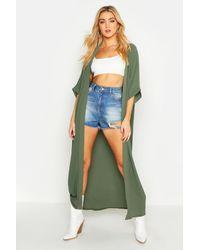 Boohoo Maxi Kimono - Verde