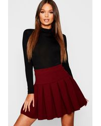 Boohoo Pleated Tennis Skirt - Red