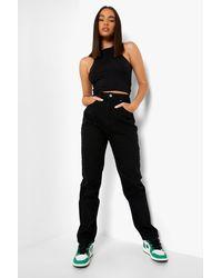 Boohoo High Rise Mom Jeans - Black
