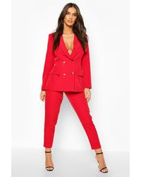 Boohoo Dress Trousers - Red
