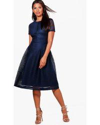 ef3c0bab311 Boohoo Boutique Full Skirted Prom Midi Dress in Purple - Save 21% - Lyst