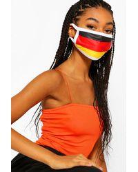 Boohoo Mascarilla Facial De Moda Con Bandera Alemana - Naranja