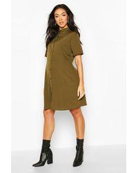 Boohoo Maternity Button Front Shift Dress - Vert