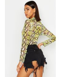 Boohoo High Waist Extreme Ripped Thigh Hot Trousers