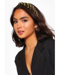 Boohoo Embellished Star Headband - Black