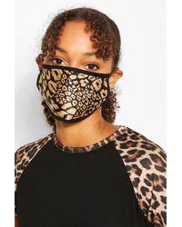 Boohoo Womens 5Er-Pack Fashion-Gesichtsmasken - Schwarz