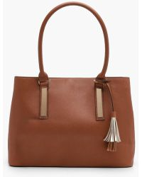 Boohoo | Bea Double Component Structured Tote | Lyst