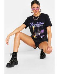 dab5e01171 Urban Outfitters · Boohoo - Tall Prince Purple Rain T-shirt - Lyst