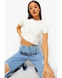 Boohoo - Camiseta Con Costuras Expuestas - Lyst