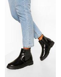 Boohoo Chunky Chelsea Boots - Black