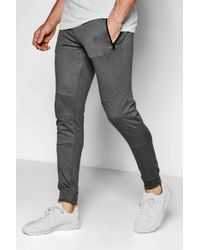 Boohoo - Skinny Fit Panel Jogger - Lyst
