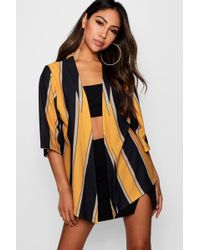 Boohoo - Bold Stripe Kimono - Lyst