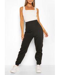 Boohoo Brushed Supersoft Sweat Sweatpants - Black