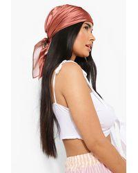 Boohoo Choco And Cream 2 Pack Headscarf - White