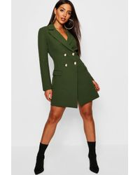 Boohoo - Double Breasted Tailored Blazer Dress - Lyst