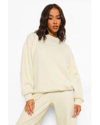 "Boohoo - Womens Übergroßes Sweatshirt Mit ""W Ofcl""-Branding - Lyst"