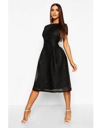 Boohoo Vestido Midi De Noche Con Falda Larga Boutique - Negro