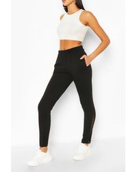 Boohoo Womens Side Split Jogger - Schwarz